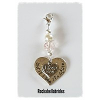 Clip on memorial keepsake charm