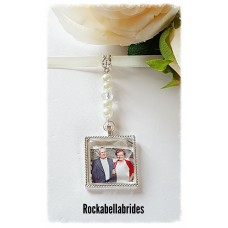 Bridal photo bouquet charm
