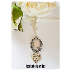 Brides bouquet charm with initial
