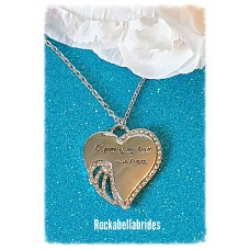 A piece of my heart is in heaven pendant necklace